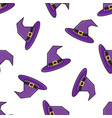 witch hat halloween seamless pattern vector image vector image