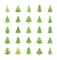 xmas trees flat icons vector image