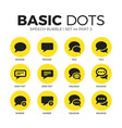 speech bubble flat icons set vector image