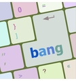 bank word on keyboard key notebook computer vector image
