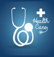 health care stethoscope cross poster vector image