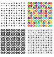 100 clothing and accessories icons set vector image vector image