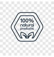 100 percent natural concept linear icon isolated vector image