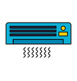 air conditioner on white background vector image