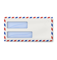 Air mail DL envelope with two windows for addresse vector image vector image