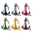 anchor and rope design template vector image vector image