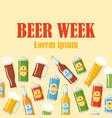 beer week flat poster vector image vector image