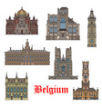 belgian travel landmarks icon for tourism design vector image vector image