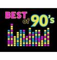 Best of 90s vector image vector image
