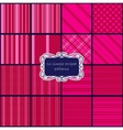 Big set of pink seamless patterns vector image vector image