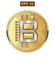 bitcoin icon gold vector image