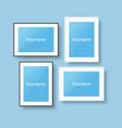 Black and white photo Frames vector image