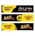 Black friday banners Sale web market vector image