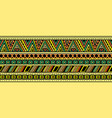 bright horizontal ethnic pattern vector image vector image