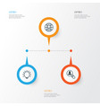 business icons set collection of open vacancy vector image