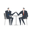 businessman is an arm wrestling business vector image