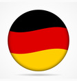 button with waving flag of Germany vector image