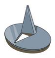 cartoon image of push pin icon pin symbol vector image vector image