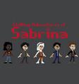 chilling adventures sabrina t-shirt vector image vector image