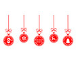 christmas ball red isolated background vector image vector image