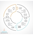circle arrows puzzle infographic cycle vector image vector image