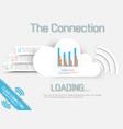 cloud computing template website vector image
