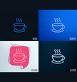 coffee drink line icon hot cup sign vector image vector image