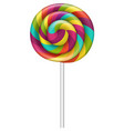 colorful lollipop icon realistic style vector image
