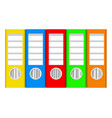 colorful ring binders on white stock vector image