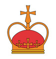 Colorful silhouette crown with decorative cross