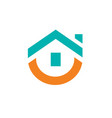 cute house logo design vector image vector image