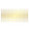 diamond gold halftone pattern vector image