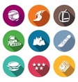 Downhill Skiing Icons Set vector image vector image
