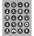 Downloading icons set vector image vector image