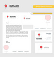 female business letterhead envelope and visiting vector image