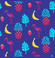 flamingo blue summer seamless texture vector image
