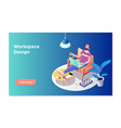 freelancer concept coworking people vector image
