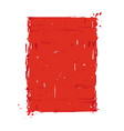 grunge frame - red vector image vector image