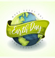happy earth day holiday banner vector image