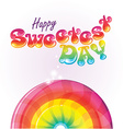 Happy sweetest day bubble writing background