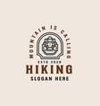 hiking mountain adventure lineart logo template vector image vector image