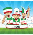 iran football support vector image vector image