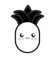 kawaii pineapple vector image vector image