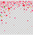 love valentine day background with red hearts vector image vector image