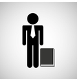 man silhouette business and book design icon vector image