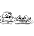 old automobile and gt car cartoon vector image vector image