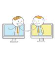 online business deal vector image vector image