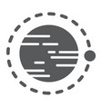 orbit glyph icon cosmos and space circle vector image