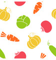 outline seamless vegetable background vector image
