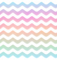pastel color wave seamless pattern vector image vector image